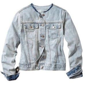 GAP Collarless denim jacket